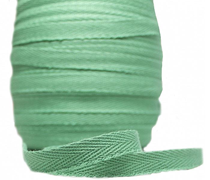 Тесьма х/б (киперная) Зеленая, 10мм