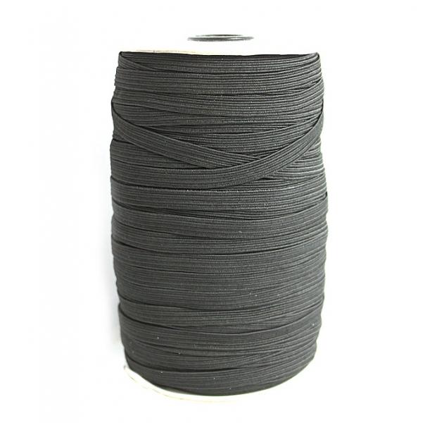 Резинка бельевая чёрная, 8 мм