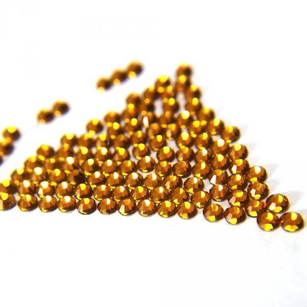 Стразы клеевые желтые