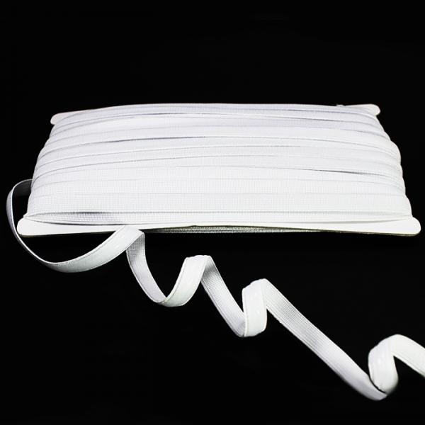 Резинка для бретель с силиконом белая,1 см.