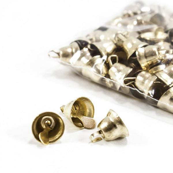 Бубенцы колокольчик 10 мм, золото