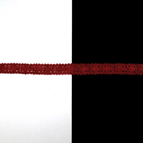 Кружево Кроше бордо, 1,5 см