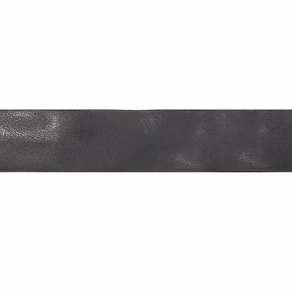 Косая бейка из кожзама синяя, 3 см