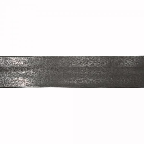 Косая бейка из кожзама черная, 3 см