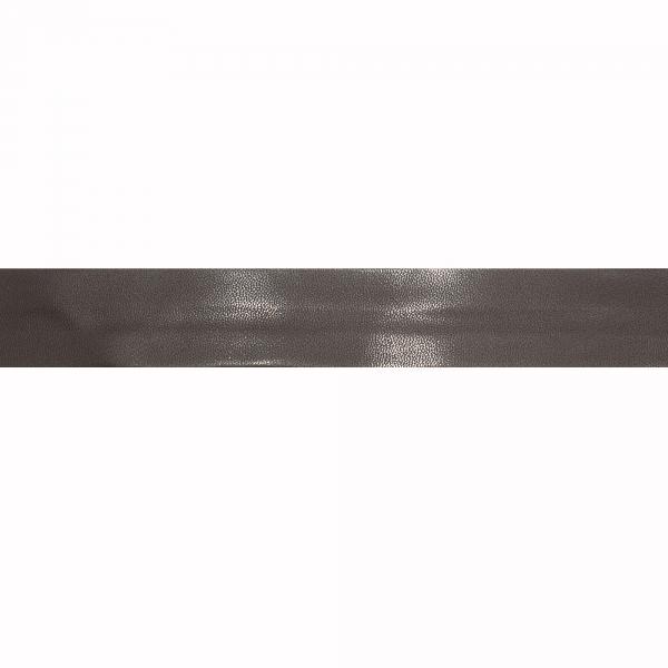 Косая бейка из кожзама коричневая, 3 см