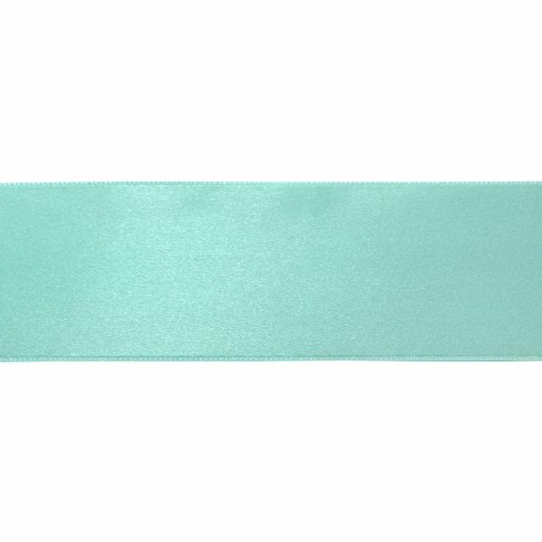 Лента атласная голубая, 7 см