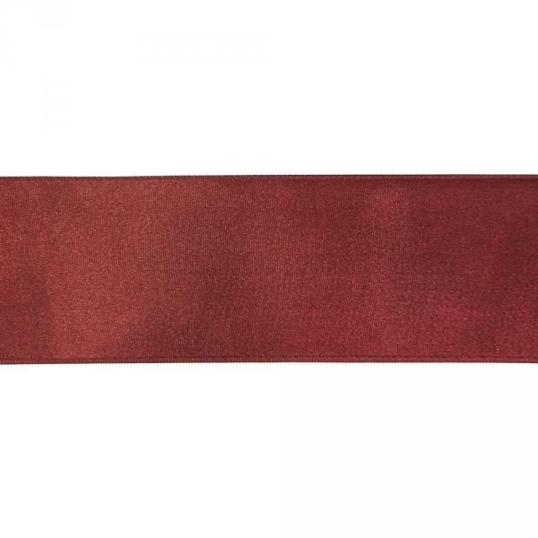 Лента атласная бордовая, 7 см