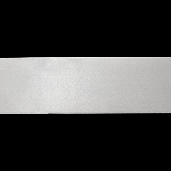 Лента атласная белая, 7 см