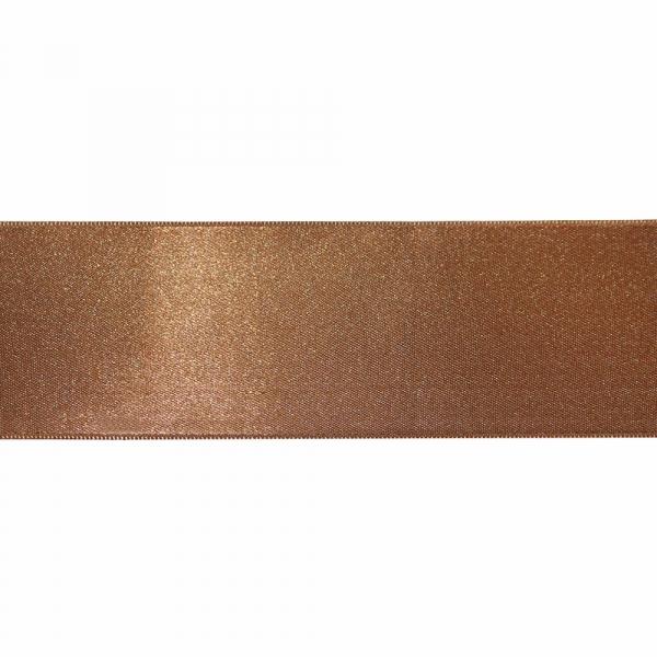 Лента атласная коричневая, 7 см