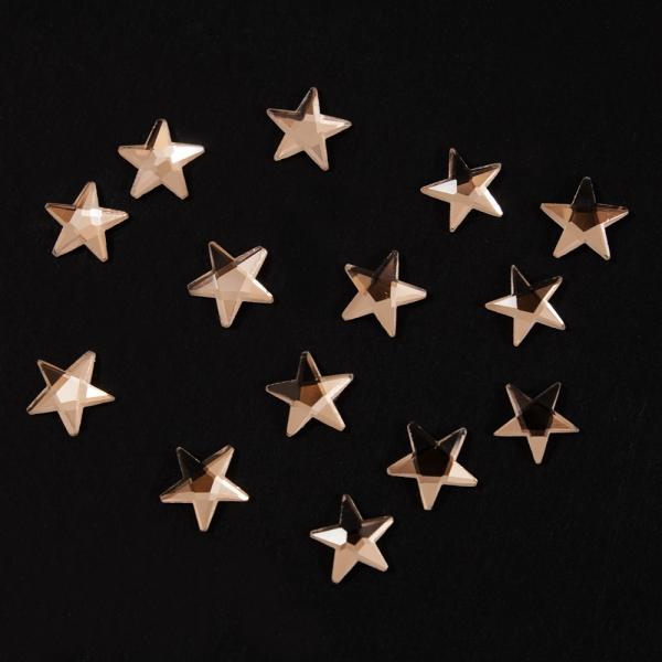 Стразы клеевые звёзды, 10 мм