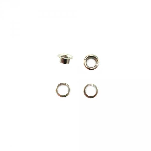 Блочка никель, 4 мм+кольцо, короткая ножка