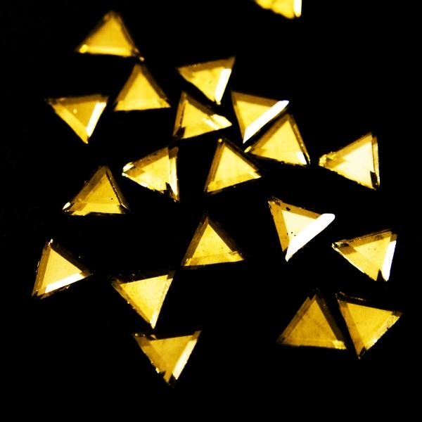 Стразы клеевые золото, 6 мм