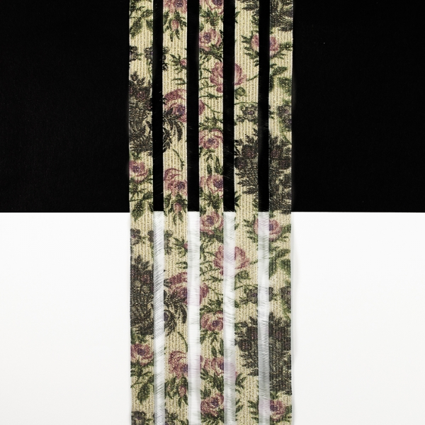 Резинка с леской, принт роза, 8.5 см