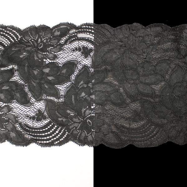 Кружево Франция, черное 15 см