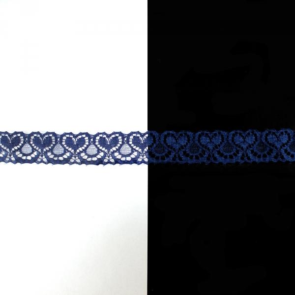 Кружево Франция синее, 1,5 см