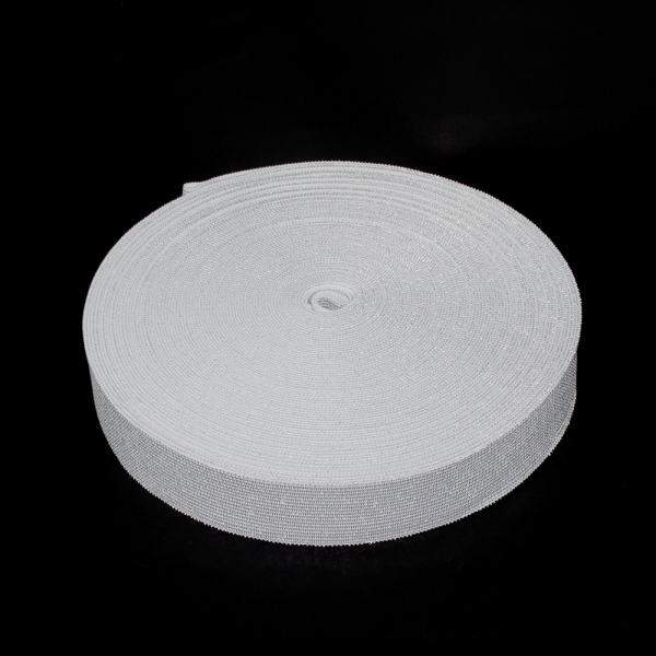Резинка бельевая белая+люрекс, 3 см