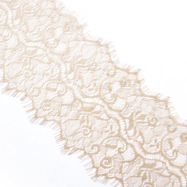 Кружево Zira шантильи, бежевый  11 см