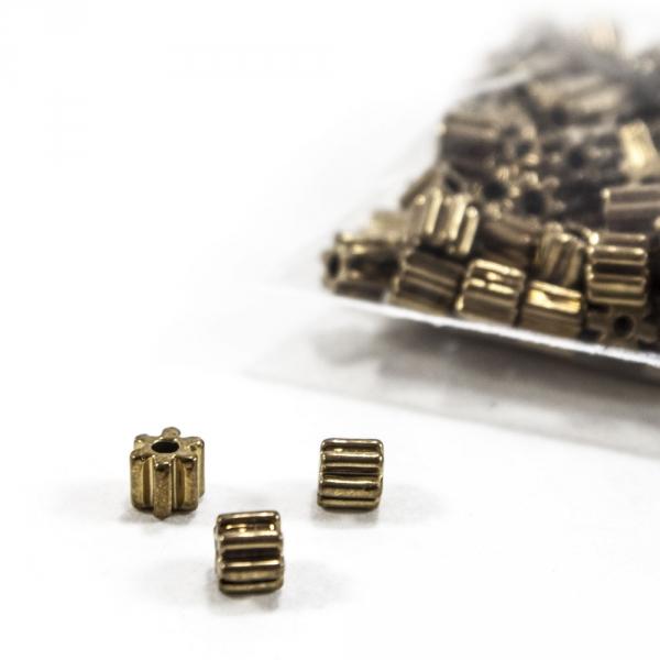 Бусины декоративные, ребристые, золото