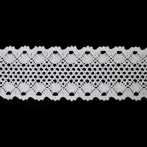Кружево Кроше белое, 9 см