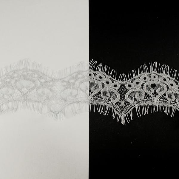 Кружево Zira шантильи, серое 4-6 см