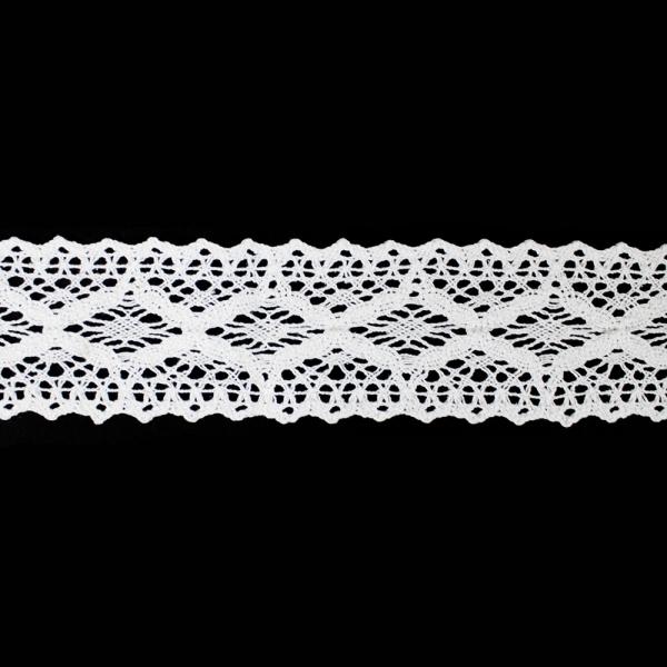 Кружево Кроше белое, 6 см