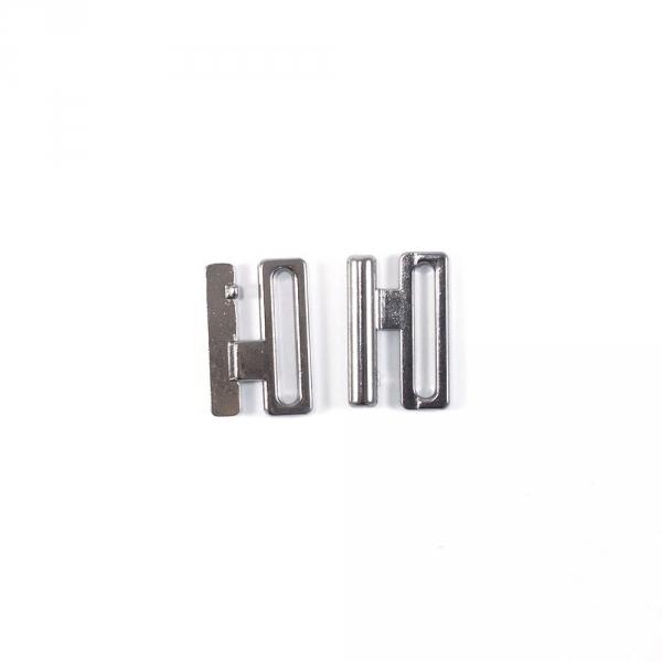 Застежка для купальника серебро, 2 см