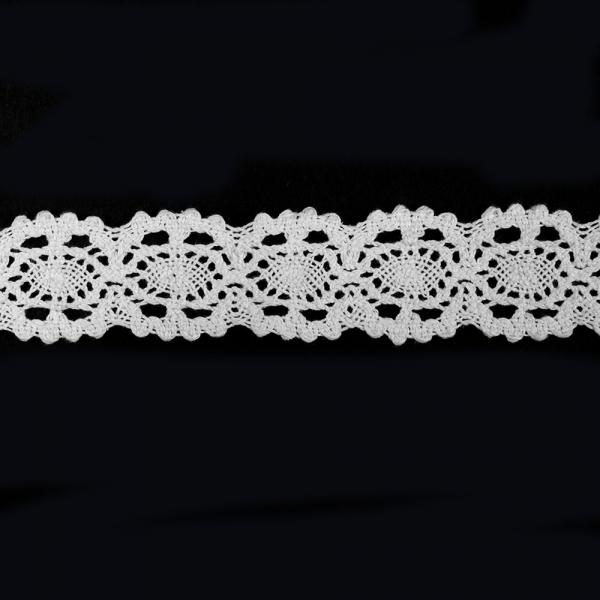 Кружево Кроше белое, 3 см