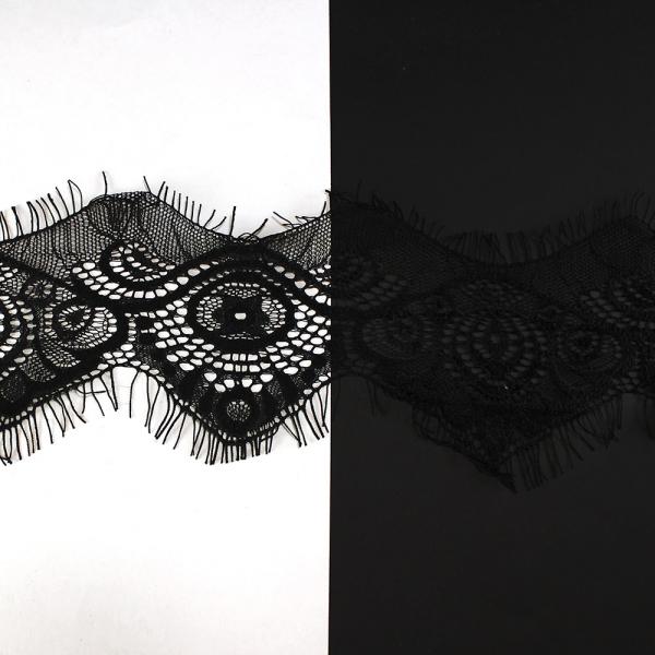 Кружево черное шантильи, 6-9 см