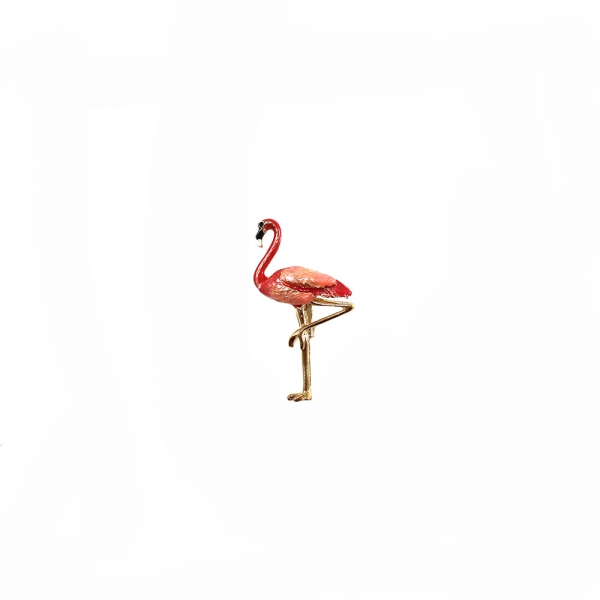 Брошь Фламинго. 3х5 см