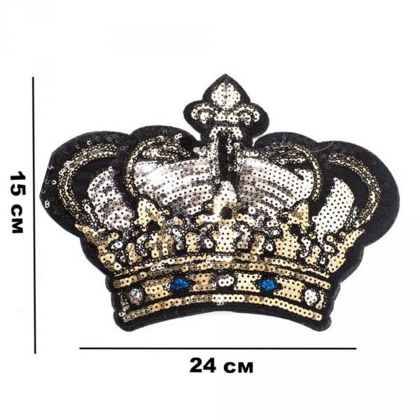 Аппликация клеевая Корона, из пайеток 24х15 см