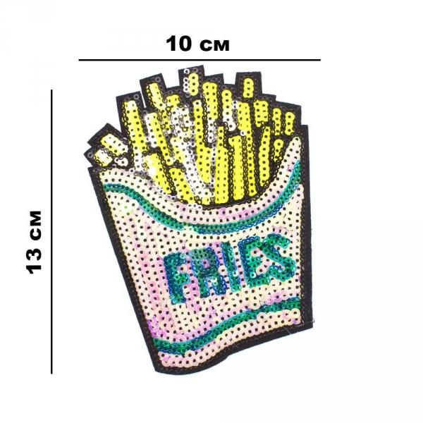 Аппликация Fries, из пайеток 10x13 см