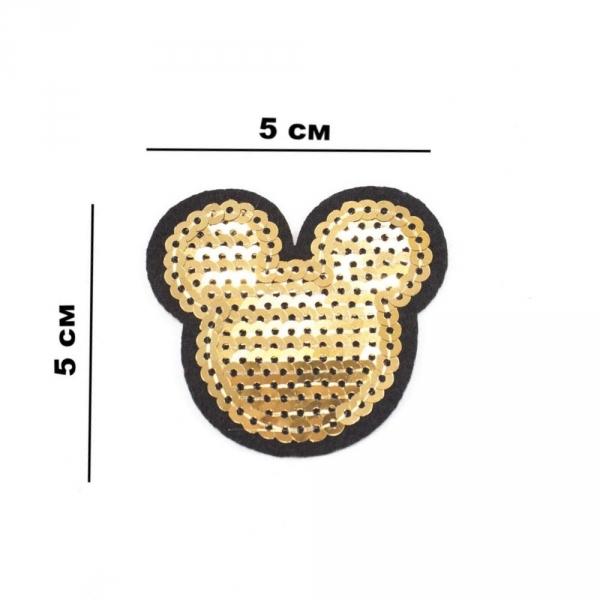 Аппликация клеевая Микки, из пайеток 5х5 см