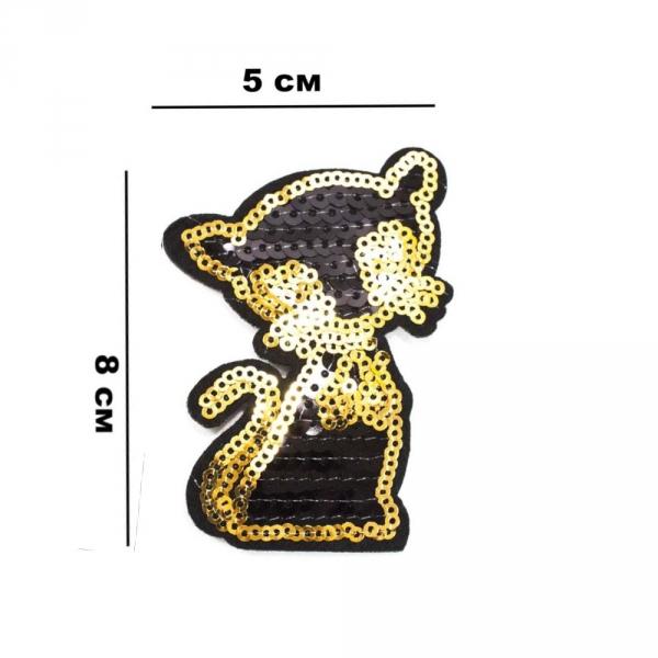 Аппликация клеевая Кошка, из пайеток 5х8 см