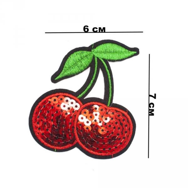 Аппликация клеевая Вишенка, из пайеток 6х7 см
