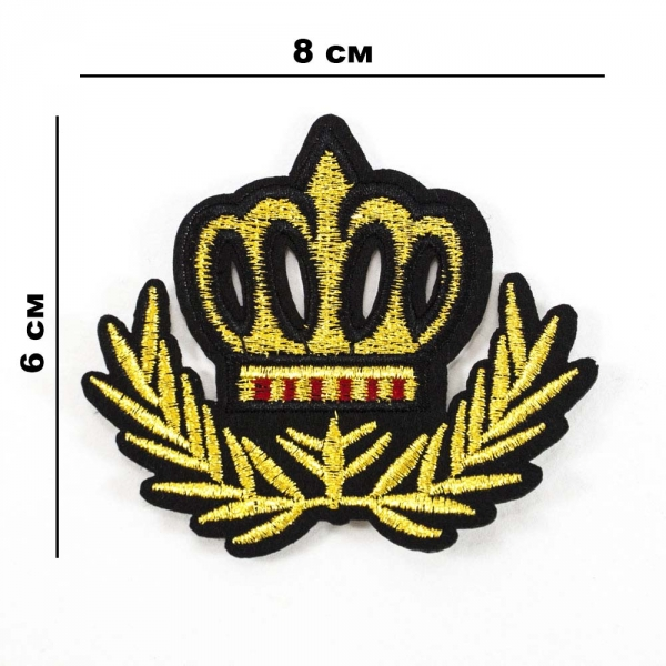 Аппликация клеевая Корона, 8х6 см