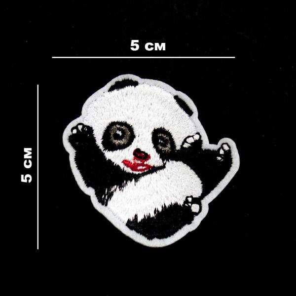 Аппликация клеевая Клеевая Панда, 5х5 см