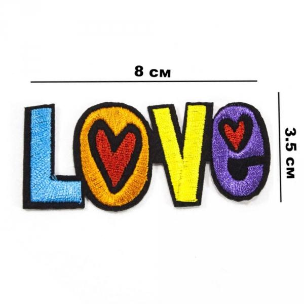 Аппликация клеевая Love, 8х3,5 см