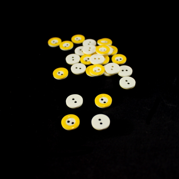 Пуговица жёлтая, 10 мм