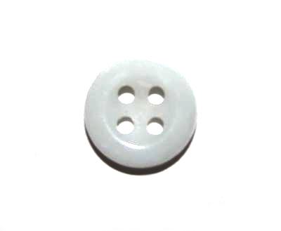 Пуговица рубашечная белая, 11.5 мм