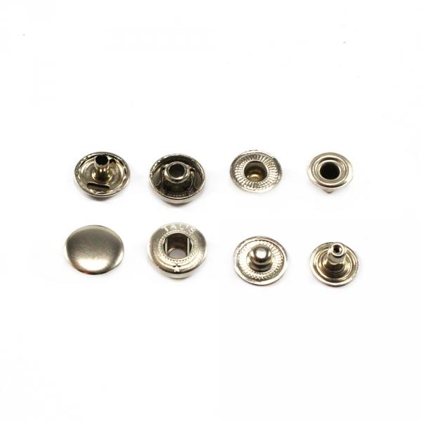 Кнопка Альфа никель, антимагнит, 15 мм