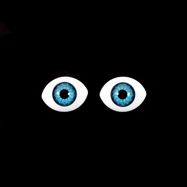 Глаза овальные,голубые, 14х10 мм