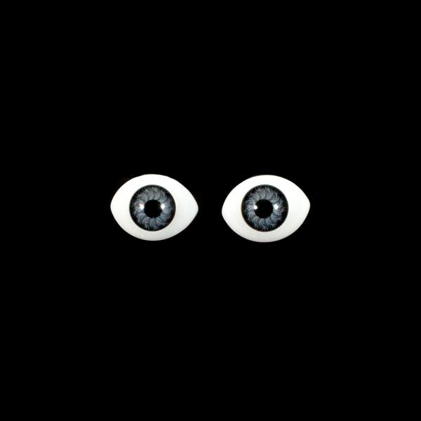 Глаза овальные,серые, 14х20 мм