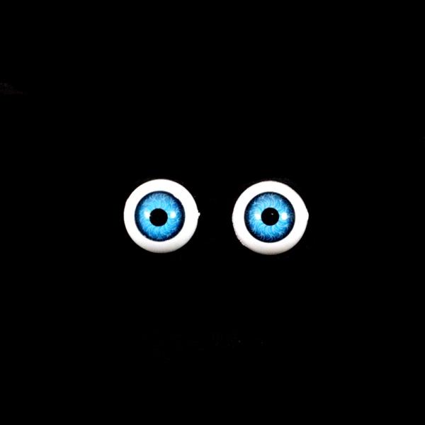 Глаза овальные,голубые, 12 мм