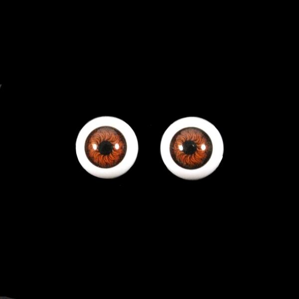 Глаза круглые,коричневые, 12 мм