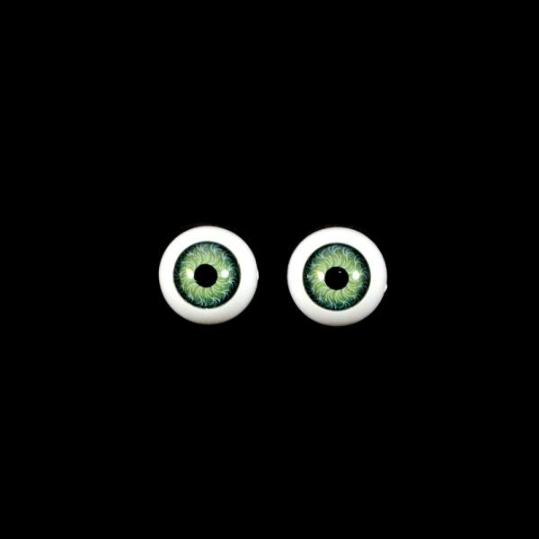 Глаза круглые,зеленые, 12 мм