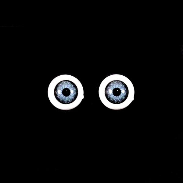 Глаза круглые,серые, 12 мм