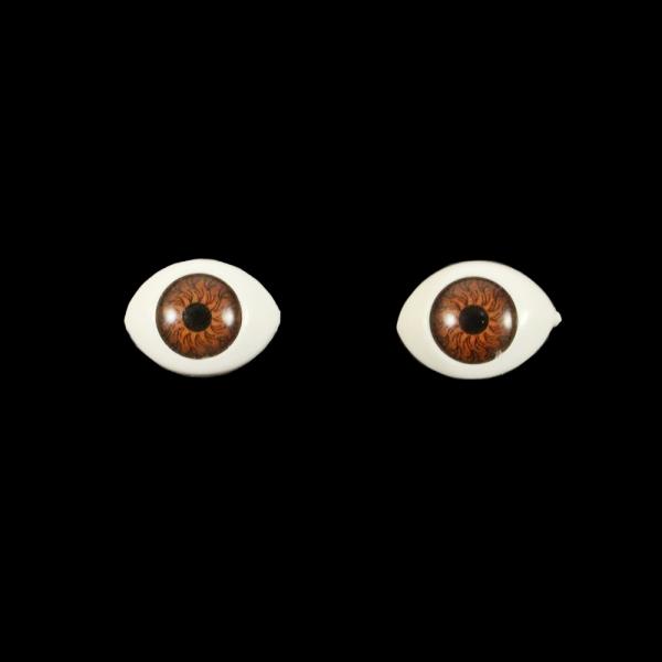 Глаза овальные,коричневые, 10х14 мм