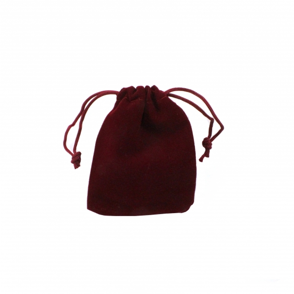 Мешочек для упаковки 7х9 см, бордовый