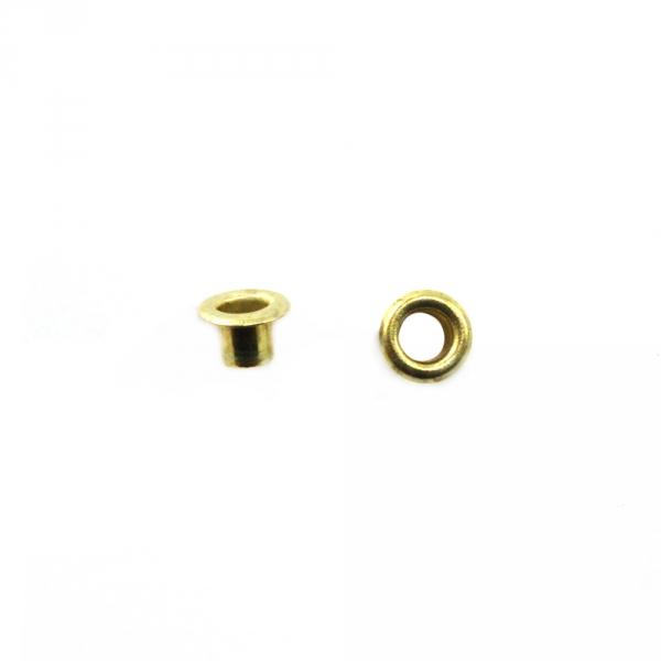 Блочка золото, 4 мм
