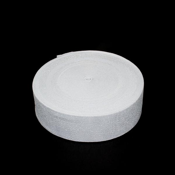 Резинка бельевая белая+люрекс, 6 см